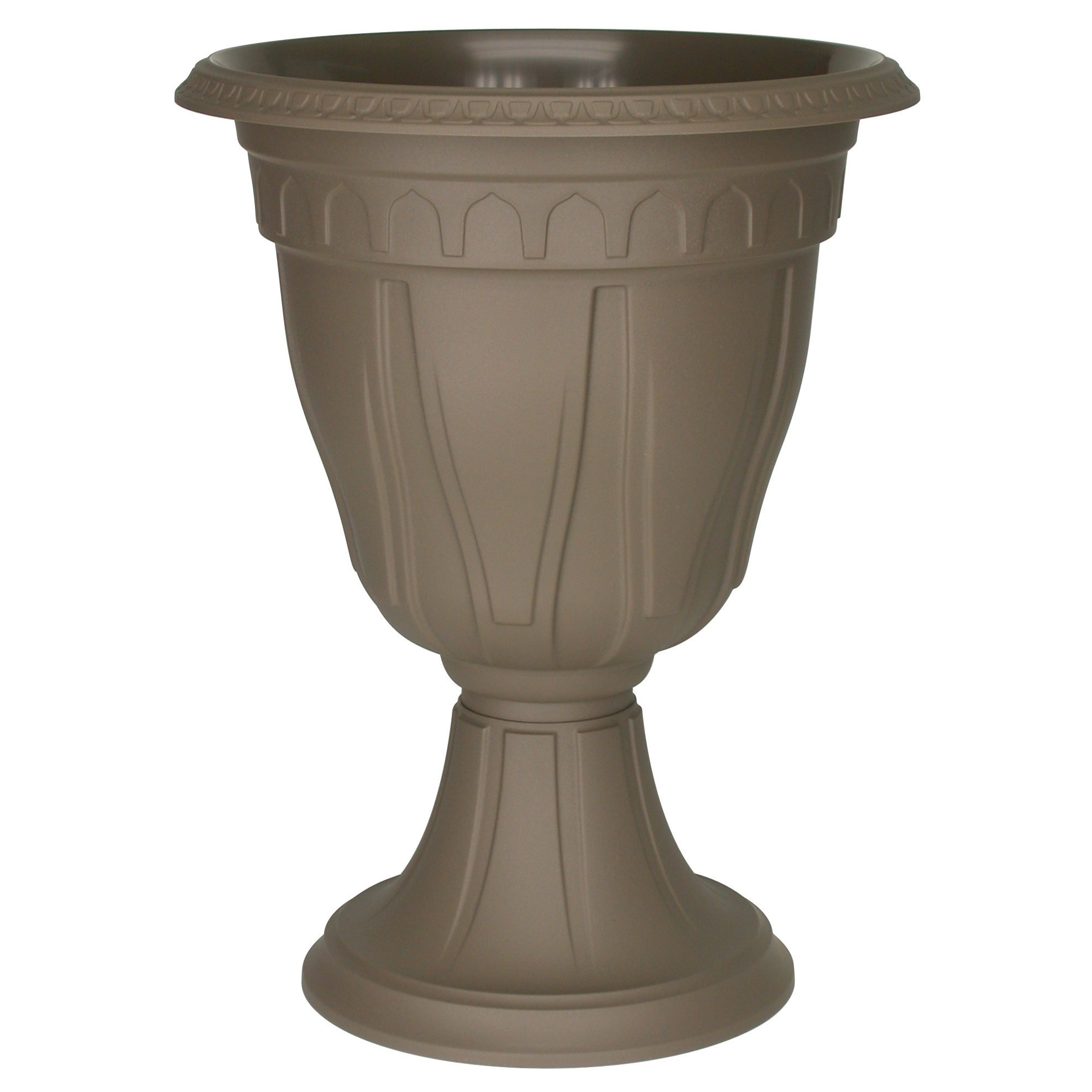 DCN Plastic 1420CA Tall Azura Urn Planter, Cappuccino by DCN Plastic