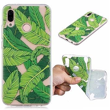 GZXiXi Funda Huawei P20 LITE Carcasa Transparente Silicona Soft Silicone Cover Bumper Funda Protectora Carcasa Blanda