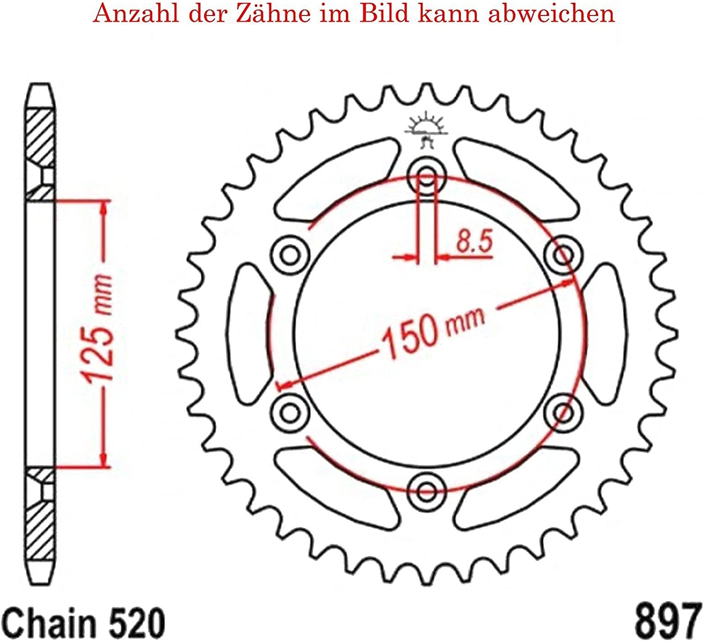 Kettenrad mit 42 Z/ähnen f/ür SC 620 LC4 Supermoto 2000-2001 von jt-Sprockets