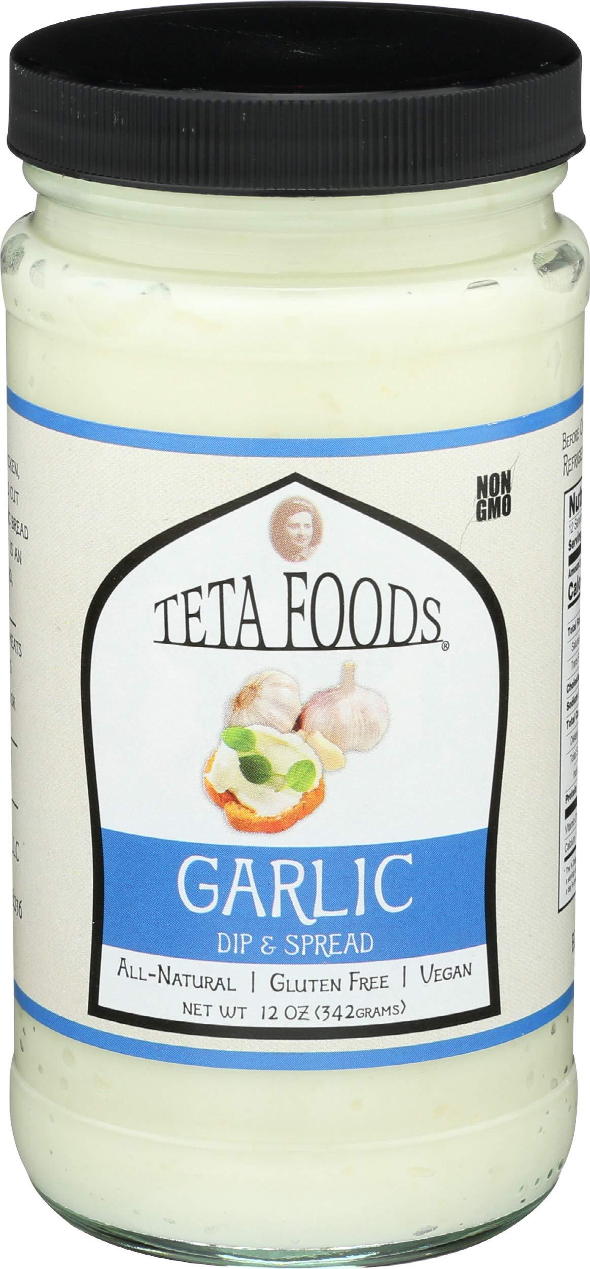 Teta Foods, Spread Garlic, 12 Ounce by TETA FOODS