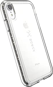 Speck Products GemShell Glitter iPhone XR Case, Clear with Gold Glitter/Clear