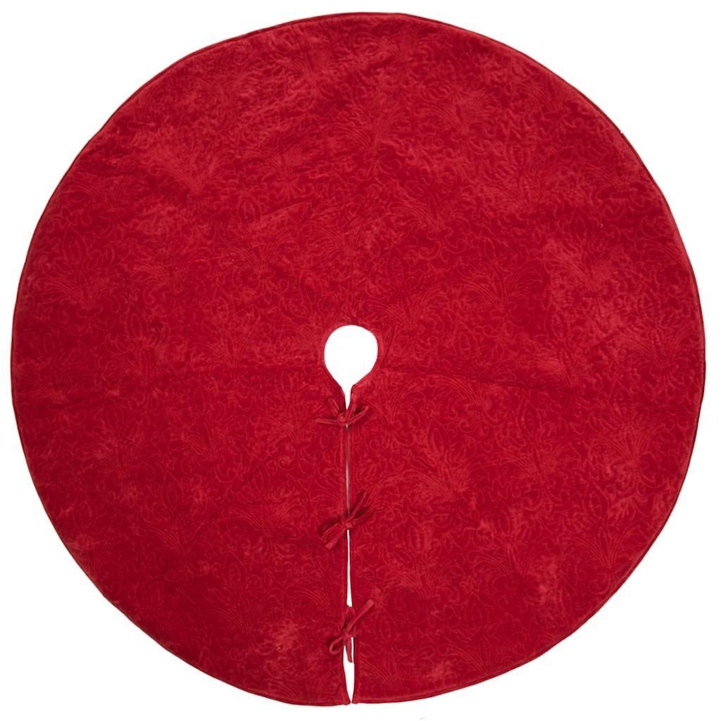 Vickerman 506257 - 60'' Christmas Eve Red Tree Skirt (QTX17631) Christmas Tree Skirts