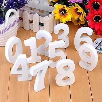 10pcs Holz Nummer Zahlen 0 9 Diy Malen Dekorationen Fur Hochzeit