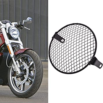TUINCYN Motorcycle 6 1//2 Inch Mesh Headlight Retro Motorcycle Side Mount Head Lamp Cover Mask Mesk 160mm-170mm for most of motorcycles cruiser chopper bobber old school cafe racer