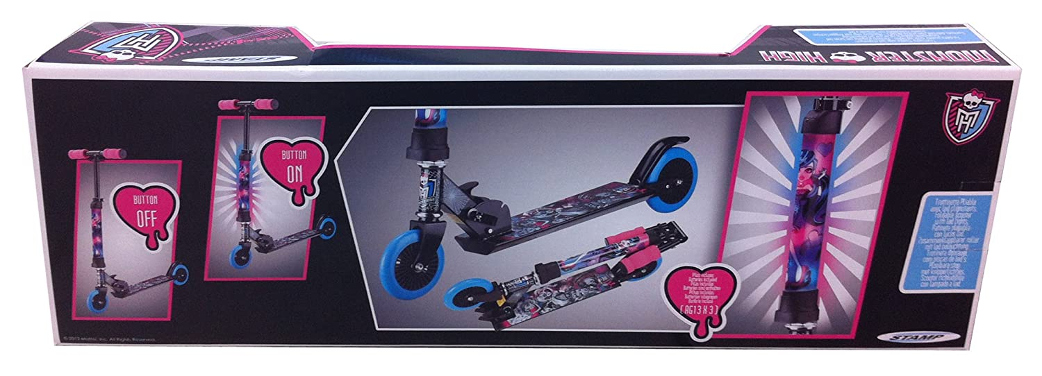 Stamp Monster High MO130043 - Patinete Plegable con luz