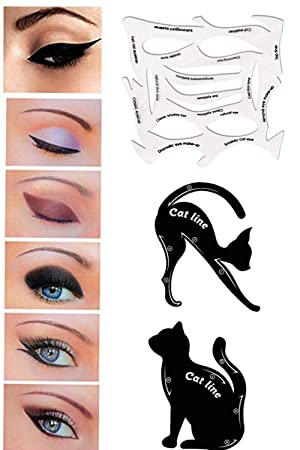 Eyeliner In Professional Eye Stencil Models Template Cat - Eyeshadow template