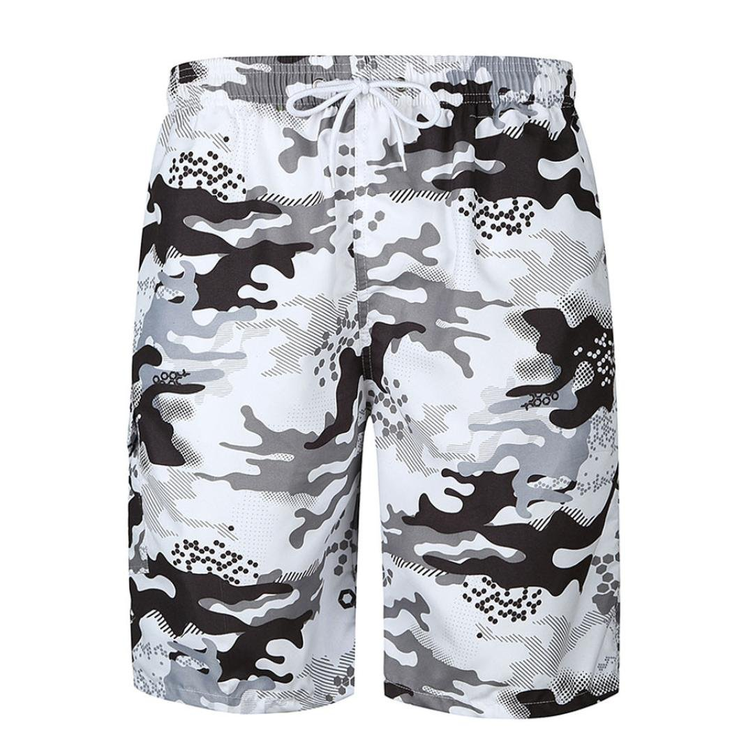Men's Cargo Short Quick-Drying BoardShorts Beach Running Surf Swim Trunks
