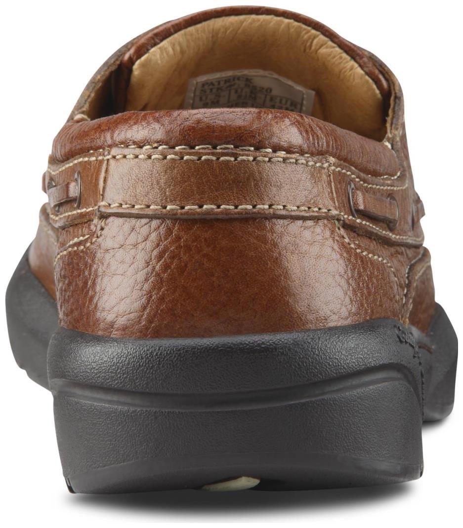 Dr. Comfort Patrick Men's Therapeutic Extra Depth Boat Shoe: Chestnut 12 X-Wide (3E/4E) Lace by Dr. Comfort (Image #5)