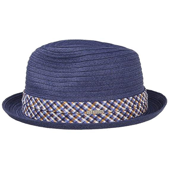 91e01ed9b96 Scriba Toyo Player Trilby Hat Stetson summer hat straw hat: Amazon ...
