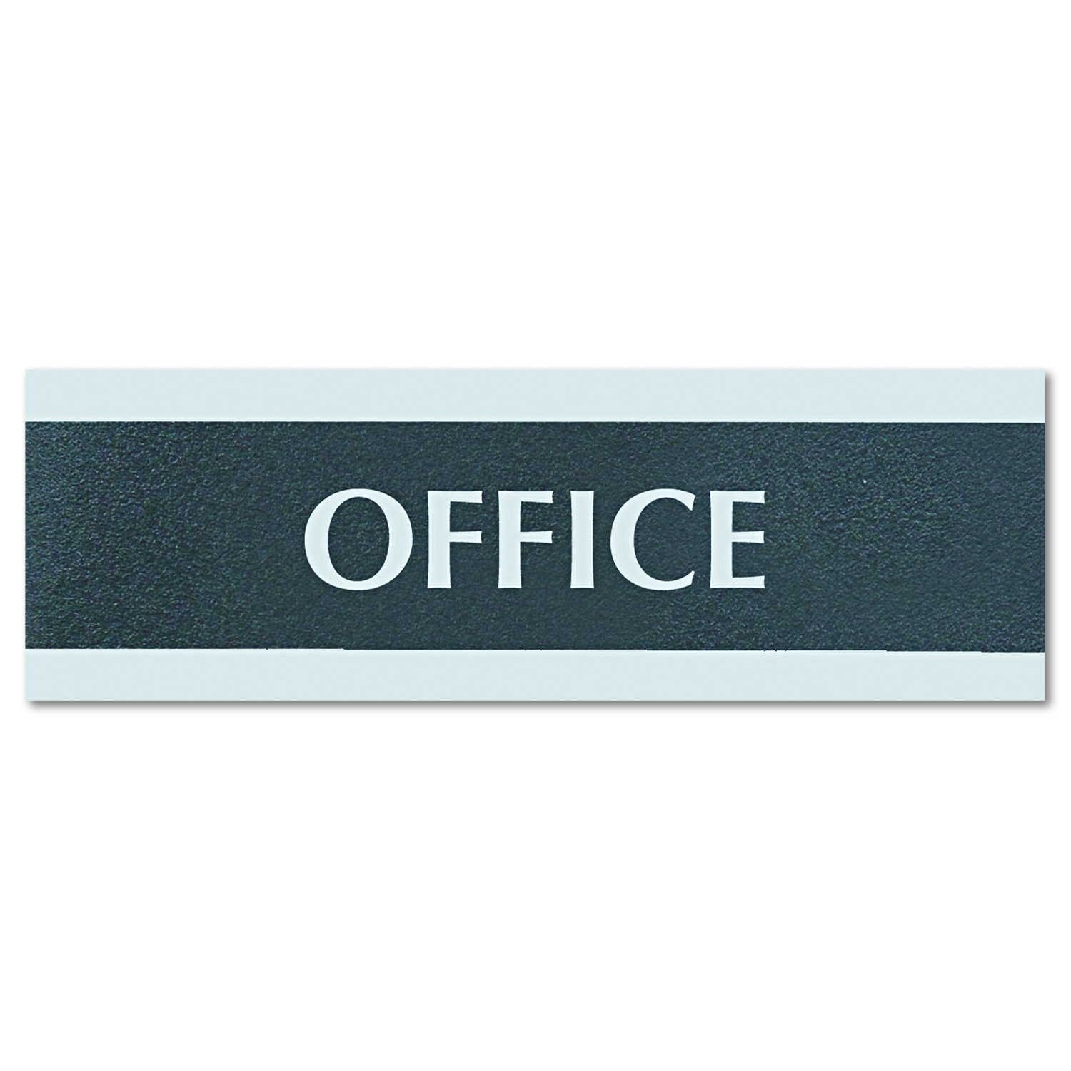 Headline Sign 4762 Century Series Office Sign, OFFICE, 9 x 3, Black/Silver