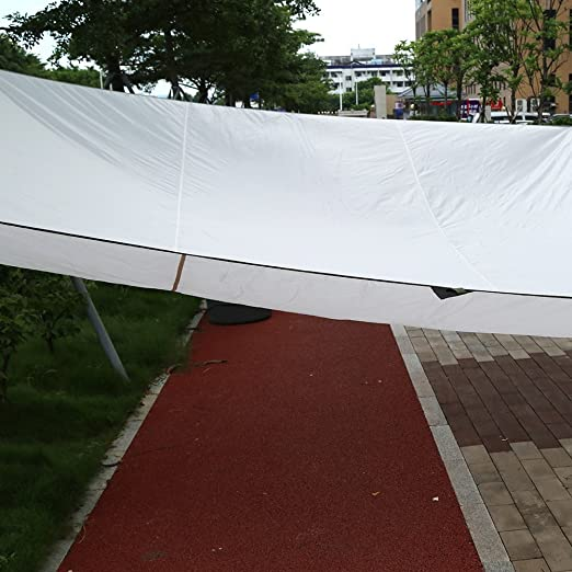GOTOTOP - Toldo Impermeable para Parasol Arena Anti UV Parasol toldo toldo toldo jardín Patio Fiesta, Exterior Interior DIY, 4, 5 x 5 m, Rectangular Color Beige Refugio con una Bolsa de
