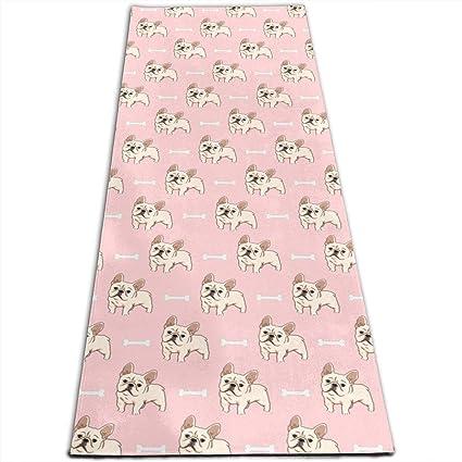 Amazon.com: Bulldog Puppy Bone Cute Printed Yoga Mat Prana ...
