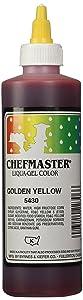 Chefmaster Liqua-Gel Food Color, 10.5-Ounce, Golden Yellow