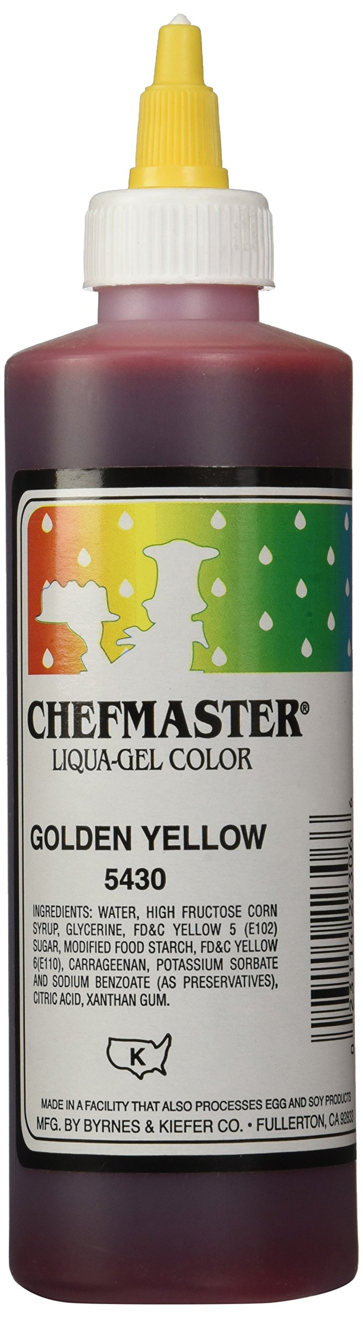 Chefmaster Liqua-Gel Food Color, 10.5-Ounce, Golden Yellow by Chefmaster