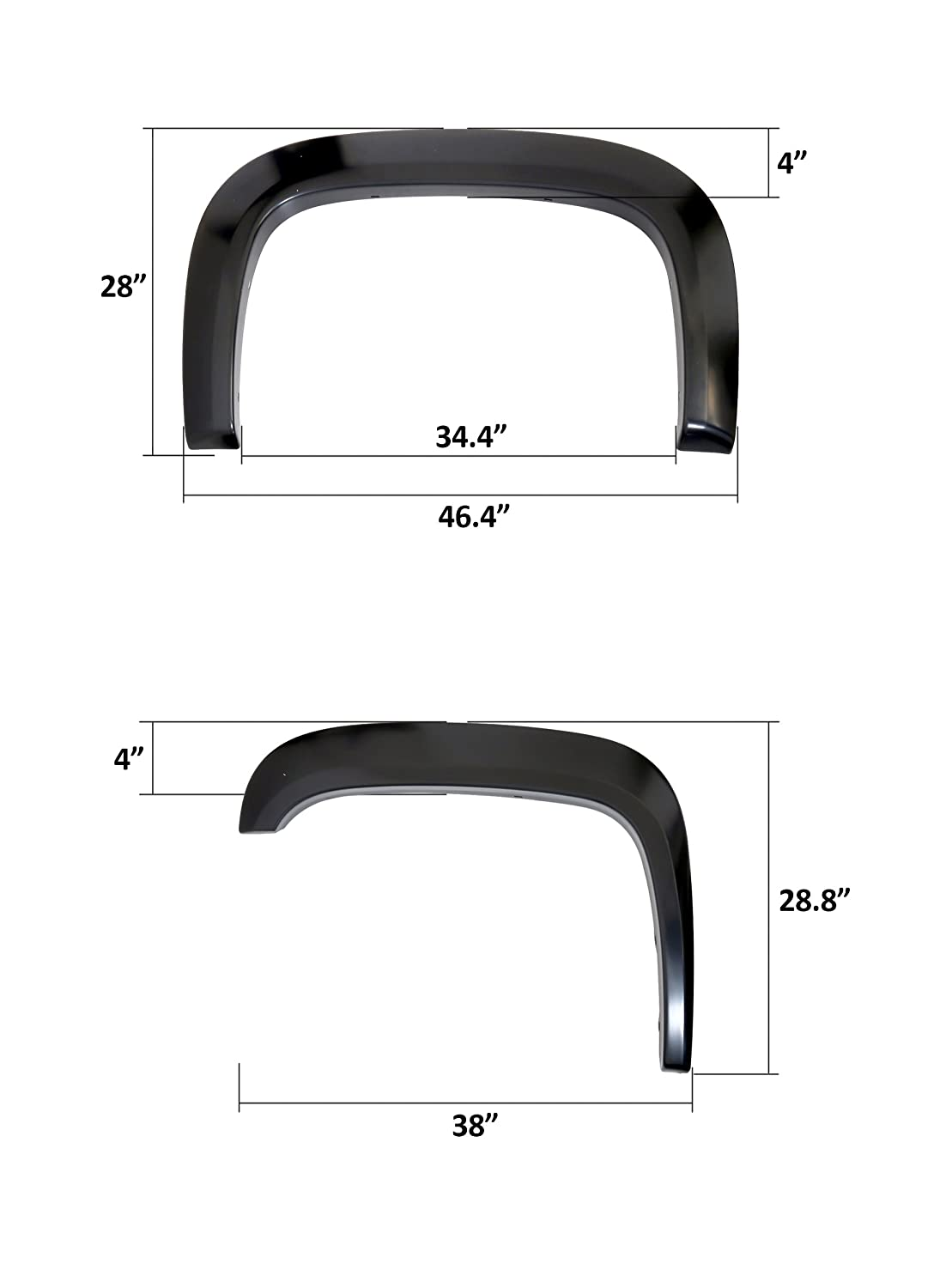 Offroader Rugged Style Fender Flares for 2007-2013 Chevy Silverado