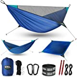 ETROL Upgraded 2 in 1 Camping Hammock with Mosquito Net - Lightweight Portable Hammock for Outside, Travel, Hiking, Backpacki