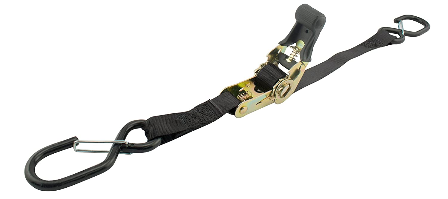 Load Capacity, Pack of 2 Erickson 05709 1 x 6 Heavy Duty Motorcycle Strap with Safety Hooks 1200 lb