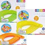 """Intex Sit N Float Inflatable Lounge, 60"""" X 39"""" (Colors May Vary)(2-Pack)"""