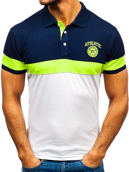 BOLF Hombre Camiseta Polo de Manga Corta con Estampado Camiseta de ...
