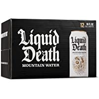 Liquid Death Mountain Water, 16 oz Tallboys (12-Pack)