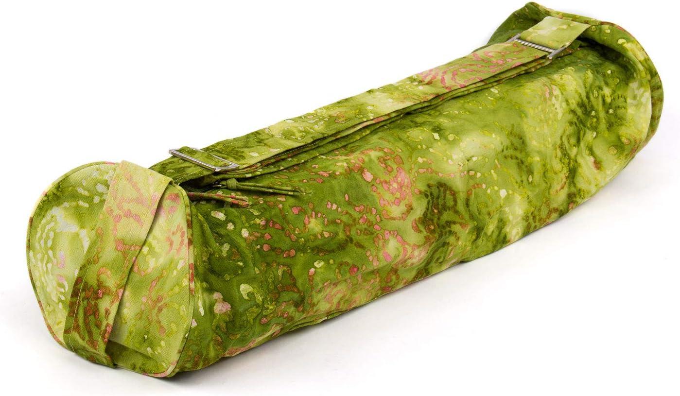 Batik-Muster Design f/ür Yogamatten und Schurwollmatten bis 66 cm Breite 100/% Baumwolle bunt 73 x /Ø 18 cm Yogamattentasche Bhakti Bag