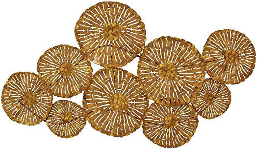 Deco 79 70953 Metal Wall Decor, 42 x 22