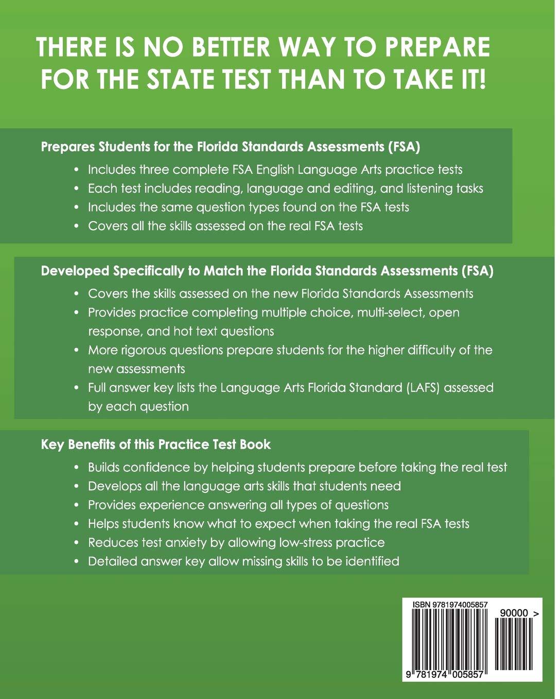 FLORIDA TEST PREP FSA Practice Test Book English Language