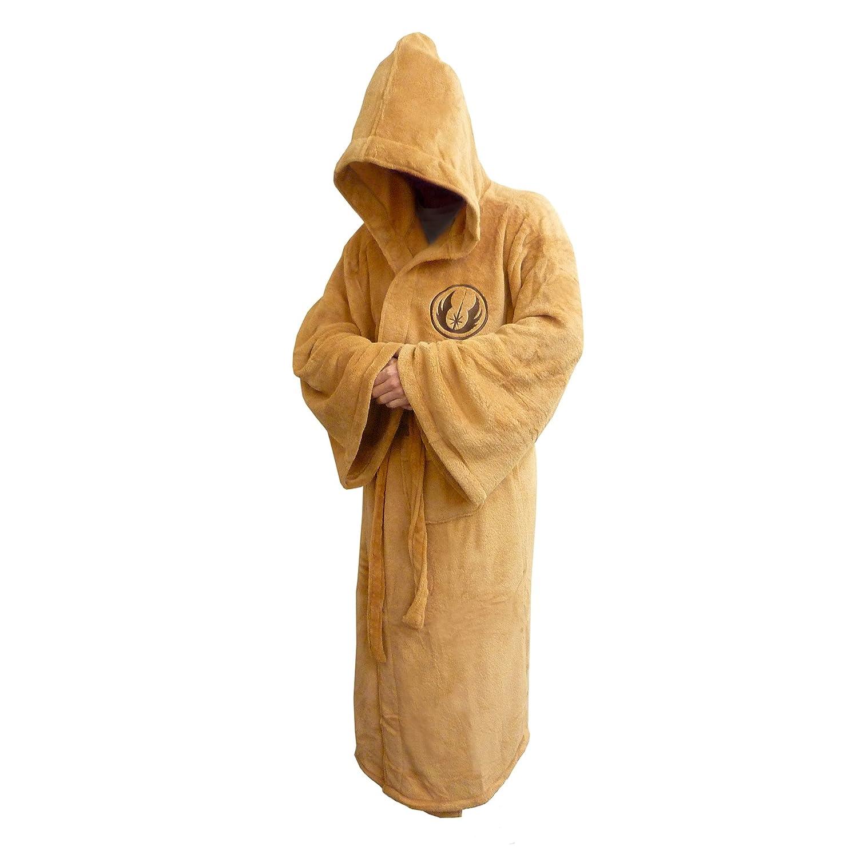 Star Wars Jedi Fleece Robe Tan Logo Adult, Size Large: Amazon.co.uk ...