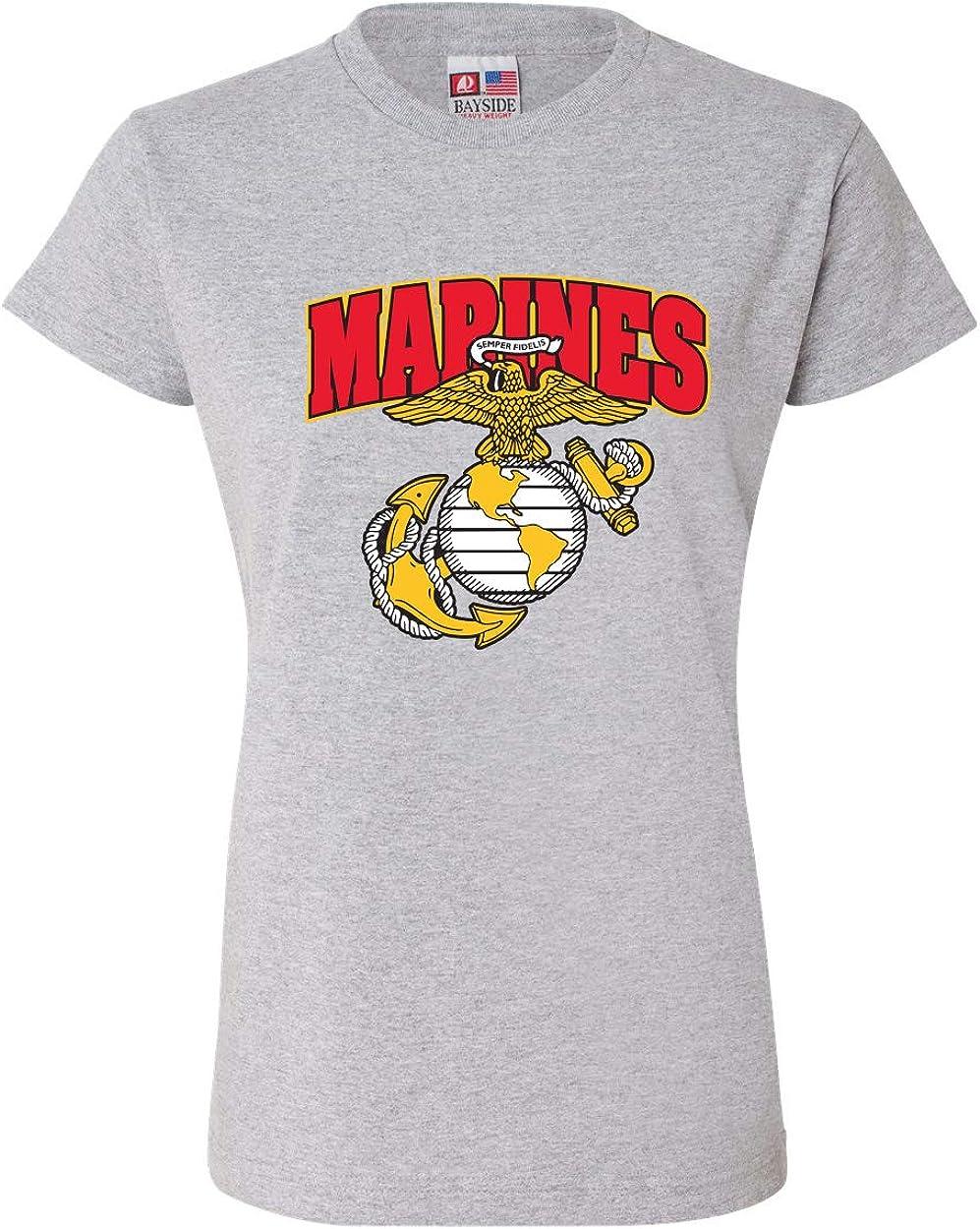 Marines w//Emblem T-Shirt for Women