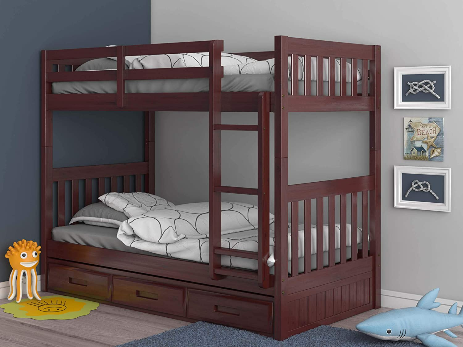 Discovery World Furniture 2810-82892 Bunk Bed, Twin Over Twin, Merlot