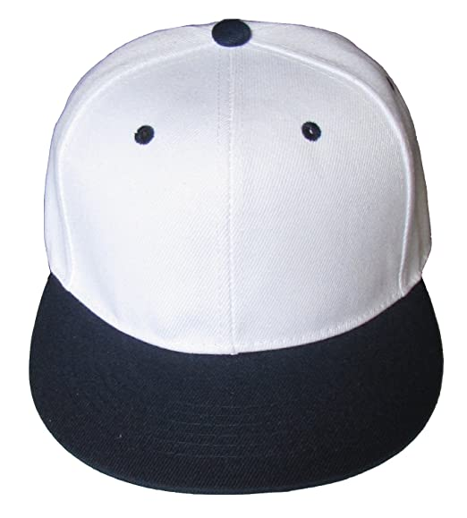 e8cb805bb3d01 Image Unavailable. Image not available for. Color  NGH Premium Plain  Two-Tone Flat Bill Snapback Hat - Baseball Cap ...