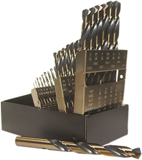 "Heavy Duty Pack of 6Pcs Kodiak USA Made 5//16/"" Diameter Drill High Speed Steel Jobber Length"