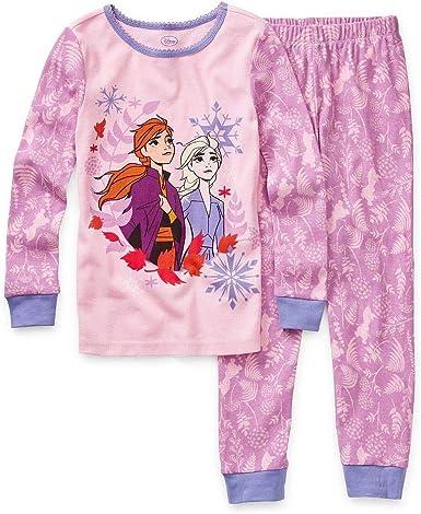Frozen pyjamas set pink Elsa Anna long sleeves  2 3 4 5  yrs  girls Christmas