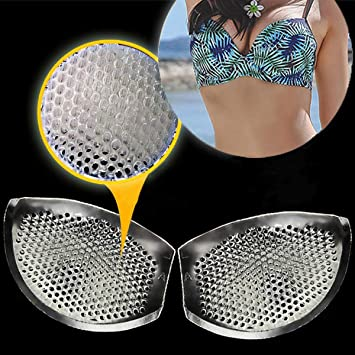 18fc32f8089 Honeycomb Silicone Bra Inserts – Semi-Adhesive Breast Enhancer Uniquely Perforated  Push Up Booster Pads