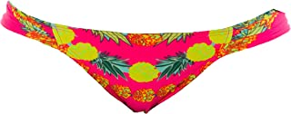 product image for Mara Hoffman Garlands Coral Floral Ruched Classic Bikini Bottom