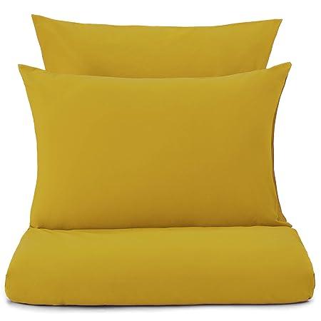 URBANARA Perpignan Bed Linen   100% Cotton, 200 Thread Count   Mustard  Yellow,