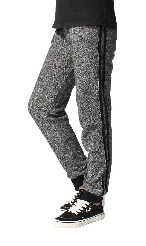 Boys Kids Slim Classic Basic Jogger Side Stripe Casual Cotton Pants Trouser in Grey