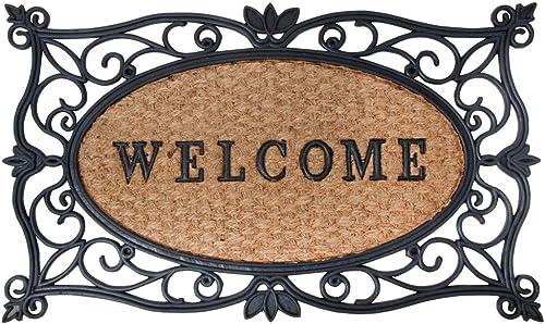 Esschert Design Rubber and Coir Welcome Doormat