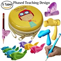 Pencil Grips,Tanbt Writing Correction Device Pencil Grips for Kids Handwriting Fish Dolphin Forefinger Writing Training Grip Holder Pen Claw Aid for Kids Children Kindergarten Writing Posture Correction