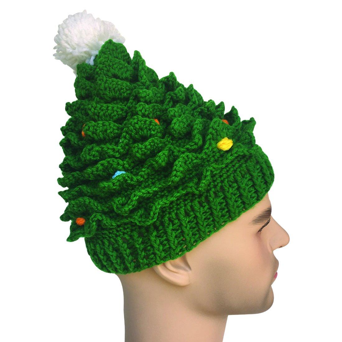 Kafeimali Unisex Christmas Winter Knitted Crochet Beanie Santa Hat