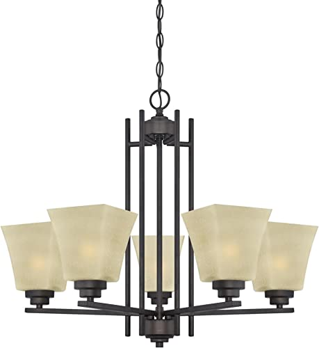 Westinghouse Lighting 63443A Ewing 5 Light Indoor Chandelier, 9.25 x 24.41 x 25.59 , Oil Rubbed Bronze