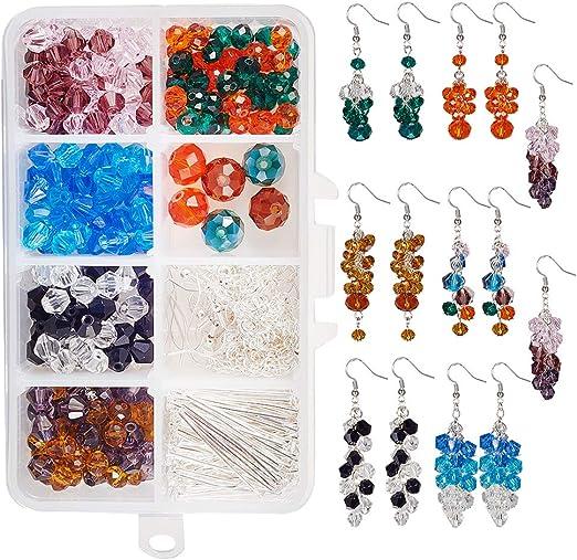 A Pair of Extra Long Crystal Earrings Chandelier Silver Hook Glass Bead Drop