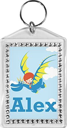 Flying a Dragon Bling Keychain (Personalized) at Amazon Women s ... 733de3b54e