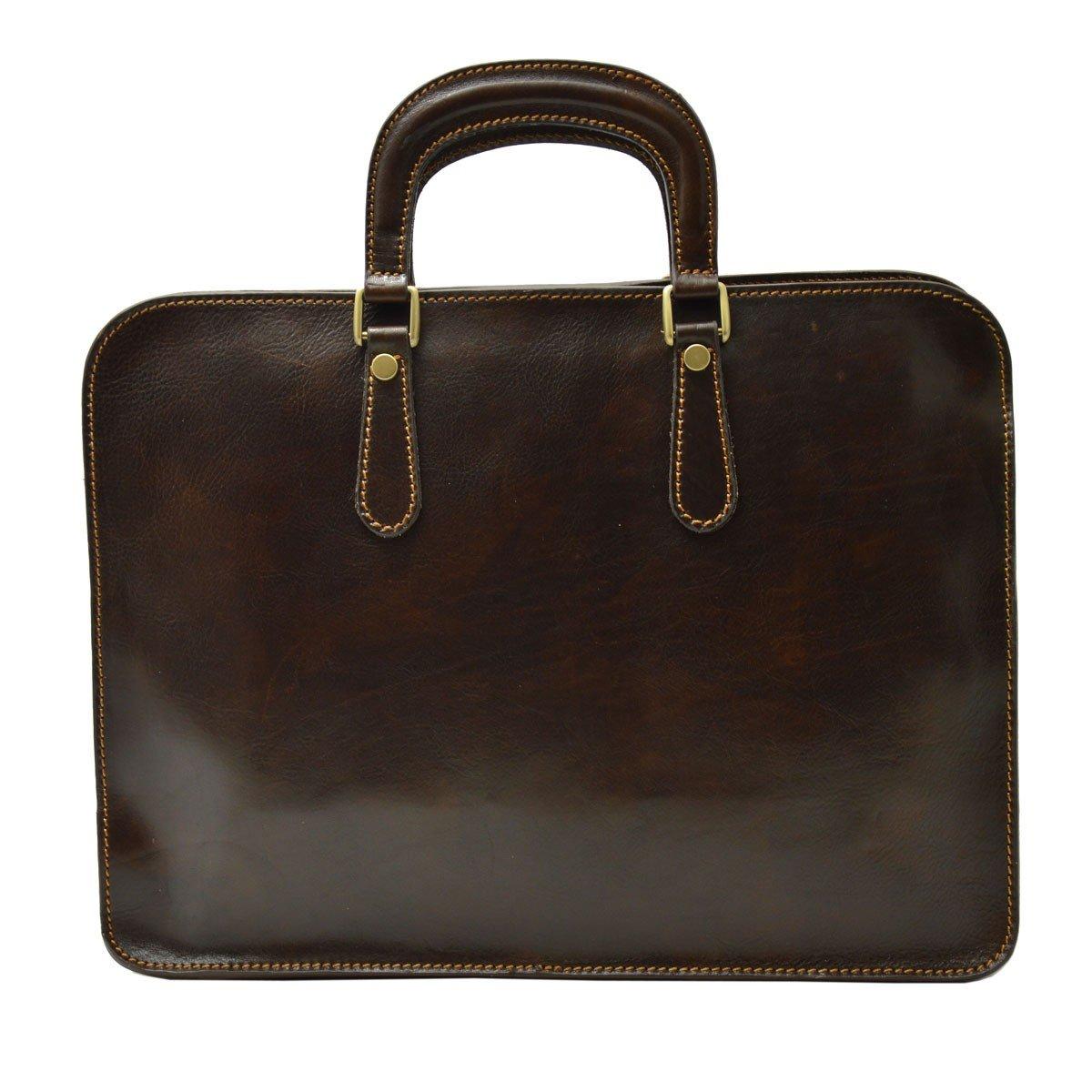 Dream Leather Bags Made in Italy Genuine Leather メンズ 530-3 US サイズ: 1 M US カラー: ブラウン   B078XGFK8F