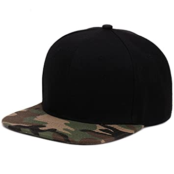 Camouflage snapback polyester cap blank flat camo baseball cap with no  embroidery mens cap and hat 613bc9d5053
