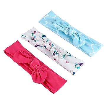 Xigeapg Diadema con nudo de corbata para ninas Bandas de pelo ...