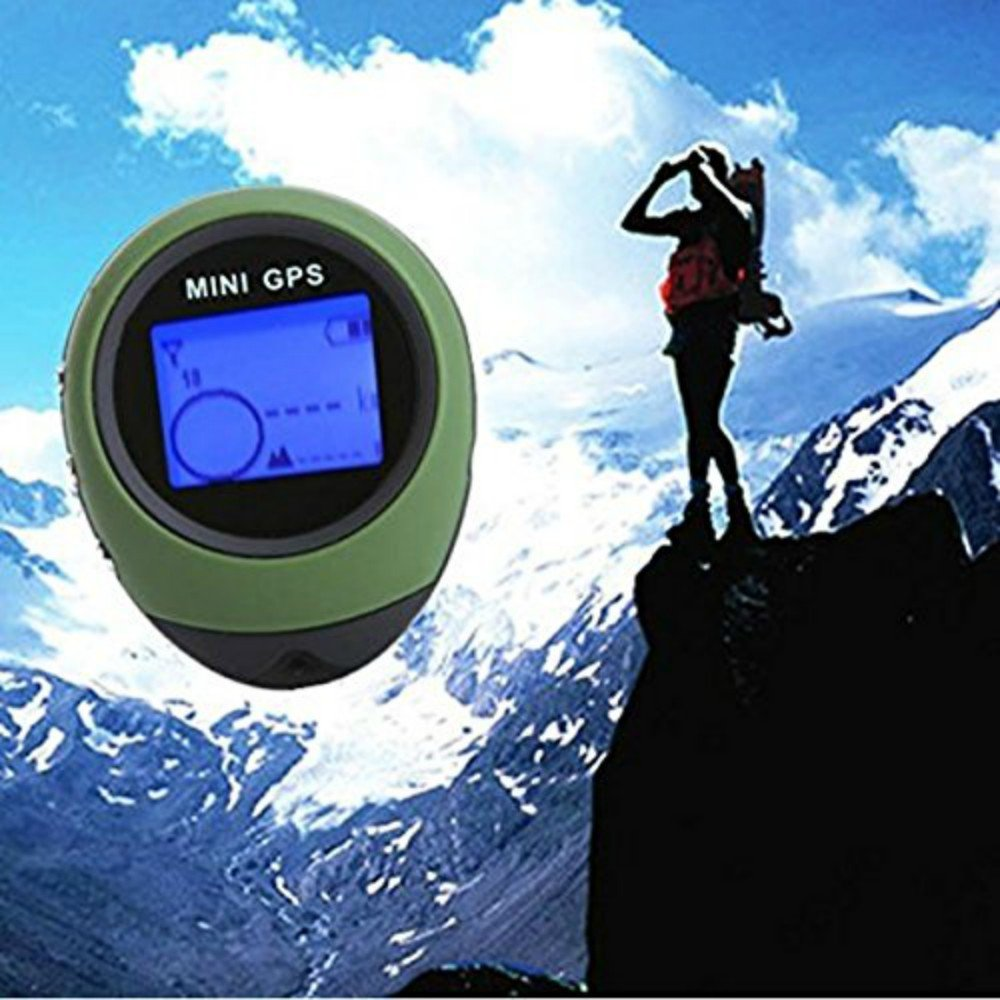 MyEasyShopping Camping Hiking Cycling Mini USB GPS Keychain Locator Navigator Green