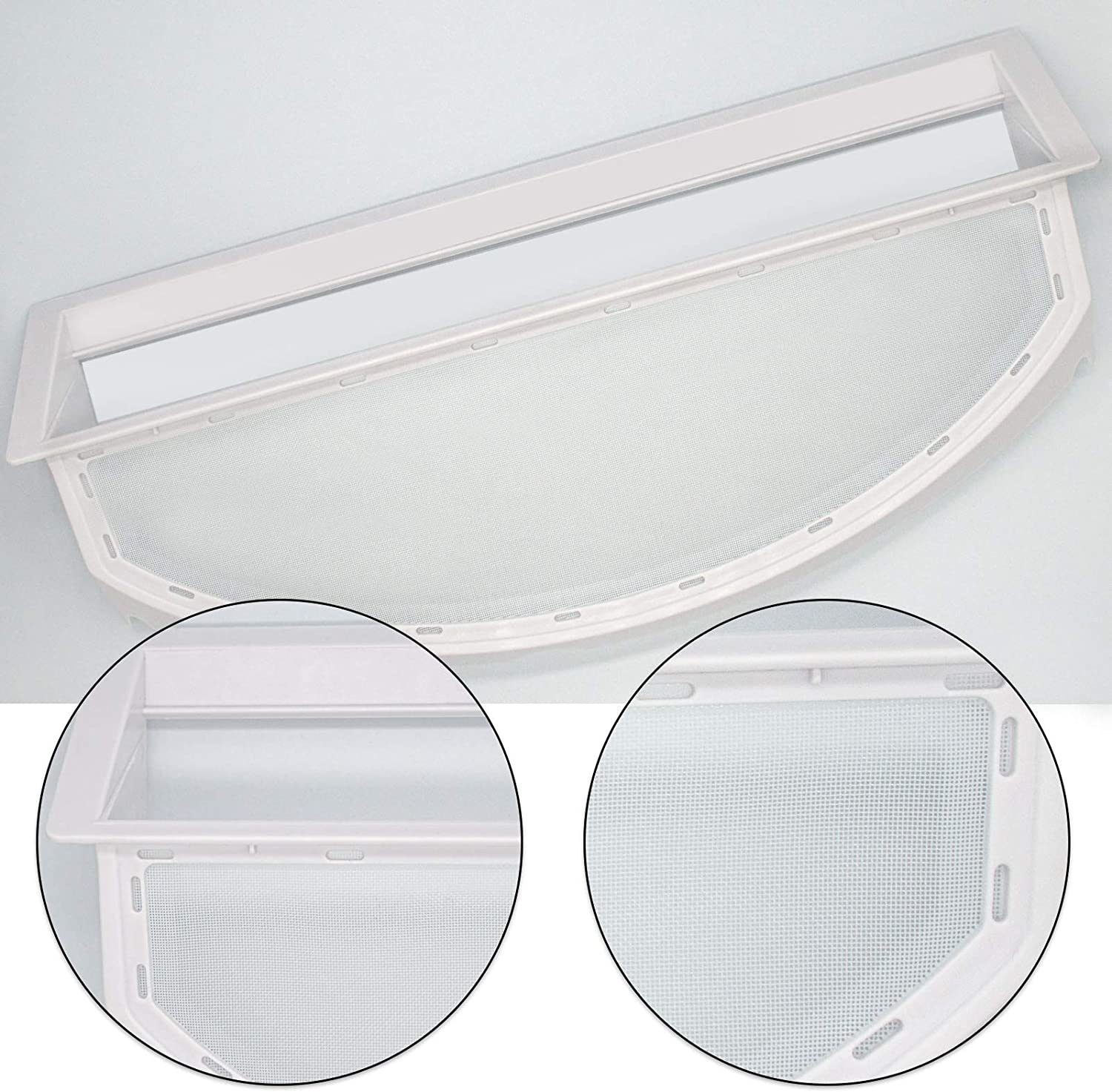 WE18X25100 Dryer Lint Screen Filter Assembly Compatible with ge hotpoint RAC Dryer Replaces WE18M28 WE18M25 WE18M19 WE18M30 AP6037511 PS11767017