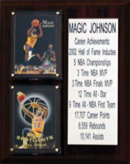product image for NBA Los Angeles Lakers Magic Johnson Career Stat Plaque