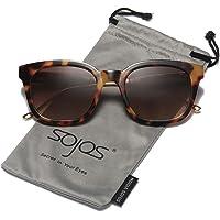 SOJOS Classic Polarized Sunglasses for Women Men Mirrored Lens SJ2050